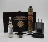 k fire ecig - K Fire E cigarettes kits Variable Voltage V V Spinner Battery E Fire Wooden Mod Ecig Kit with VIVI Nova Atomizers