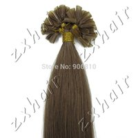 beautiful nail extensions - Beautiful inch Pre bonded Nail tip Natural Hair extensions g s s pack g color Chesnut Brown