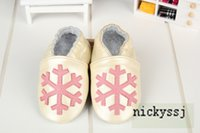 Wholesale 2015 latest Snowflakes soft bottom baby shoes Genuine Leather Toddler baby moccasins First Walkers Anti slip Infant Shoes free shiping