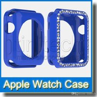 Wholesale For Apple Watch mm mm iWatch Diamond Rhinestone Ultra Candy Colorful Crystal Transparent Soft TPU Rubber Cover Skin Apple Watch Case