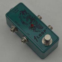 Wholesale True Bypass Looper Effect Pedal Guitar Effect Pedal Looper Switch true bypass guitar pedal Mini Dark green Loop switch