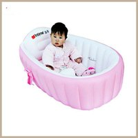 Wholesale Portable Baby Bathtub Baby kid toddler Tubs Secure Inflatable Portable Eco friendly Swimming Pool Anti Slip Safe Baby Bath