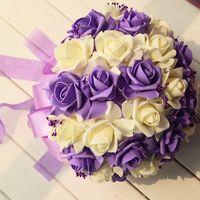artifial flowers - PE Artifial Flowers Bridal bouquets Wedding Accessories Charming Custom Flowers Bride Wedidng Hand Tied Flowers WWL