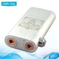 Vapeur de Gate Machanical Mods Hell authentique Hells Gate Box Mod enfer pour Dual 18650 Batterie 2 <b>Yep RDA</b> atomiseur Chainsmoker E Cigarette