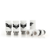 Wholesale Ceramic Wide Bore Drip Tips printing spider scorpion ceramic tips Drip Tip EGO Atomizer Mouthpieces for RDA RBA DCT CE4 Ecig vaporizer