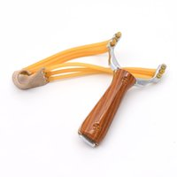 Wholesale Powerful Slingshot Aluminium Alloy Slingshot Bow Hunting Catapult with Rubber Latex Band for Outdoor Hunting