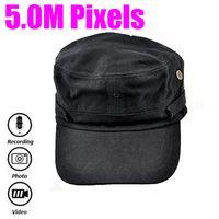 Wholesale Cap Hidden Pinhole Video Recorder M Pixels Hat Camera with Remote control Hat Hidden Mini DVR Support Video Photo Audio MS