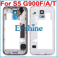 Wholesale White Middle Housing Frame Bezel Faceplate Midframe For Samsung Galaxy S5 G900A G900T G900V Replacement