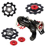 Wholesale Mountain Bikes Road Bicycle Rear Derailleur Aluminum Alloy Guide Roller Gear Jockey Wheel Part Accessory