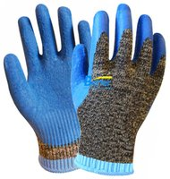 latex coated work gloves - Aramid Fiber Gloves Steel Gloves Latex Coated EN388 Grade Anti Cut Work Gloves