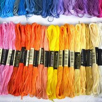 Wholesale 2015 The Unique Style Different Colors Cross Stitch Cotton Embroidery Thread Floss Sewing Skeins Kit random delivery