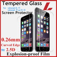 Wholesale D mm Premium Tempered Glass Screen Protector For iphone s plus S s Toughened Protective Film