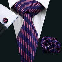Neck Tie Set Classic Fashion Purple Tie Set Hankerchief Cufflinks Mens Free Shipping Mens Silk Jacquard Woven Classic Business Necktie N-0246