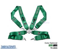Wholesale TANSKY Universal quot point Camlock Safety Harness Sport Racing Seat Belt Buckle Black Green TK TA284