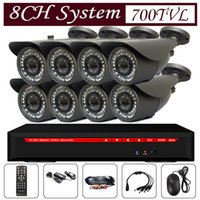 Wholesale professional ch dvr kit cctv camera system big lens tvl cmos ccd waterproof analog cctv camera with CS mm mm mm lens leds