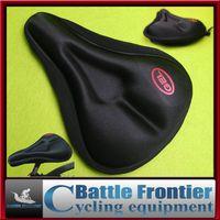 Precio de Almohadilla para el ciclismo-2015 nuevo sello de la silla de montar gel de silicona amortiguador de asiento de ciclismo de espesor 3D pad Mat en la bicicleta para los equipos de bicicleta de montaña de carretera negro