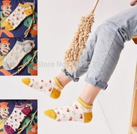 best sock yarn - 5pairs best sell fashion women s casual spring summer cotton loop yarn sock slippers candy color patchwork socks for women cw65