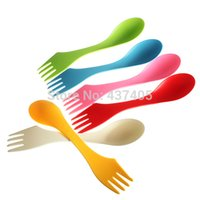 Wholesale Retail Plastic spoon and cutter Tool Travel Gadget Cutlery