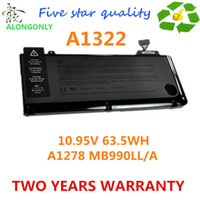Wholesale NEW A1322 Laptop Battery For APPLE MacBook Pro quot MB990LL A MB991LL A MC374LL A A1278 MC700 v wh