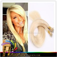 Wholesale 100 human hair Indian virgin hair Nano hair quot quot s Nano hair extensions in STOCK