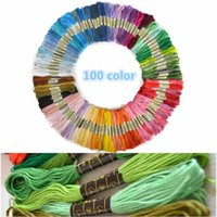 Wholesale New m Multicolor Cotton Cross Stitch Sewing Skeins Embroidery Thread set
