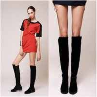 over the knee boots - Fashion winter female shoes over the knee women s boots flat shoes sexy warm long high boots XWX323