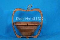 bamboo basket - Novelty item folding fruit bamboo basket home storage