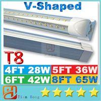 ac doors - V Shaped ft ft ft ft Cooler Door Led Tubes T8 Integrated Led Tubes Double Sides SMD2835 Led Fluorescent Lights AC V UL DLC