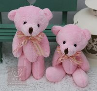 bearings store - Ribbons tied bouquets of teddy bear plush toys wedding gift packaging joint bear pendant pink toy store