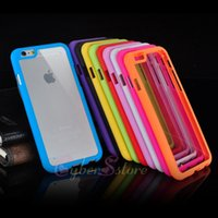 hard cover - For iphone Plus inch Transparent Clear Back TPU Bumper Frame Plastic Hard Cover Case For iphone6