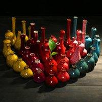 achat en gros de vase en porcelaine-vase en porcelaine chinois fixés des vases en céramique mis décorative fambe minimaliste vase de porcelaine orientale classique decoraton noël Wholesales vase
