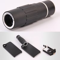 Wholesale Portable X Optical Zoom Black Telescope With Clamp Mono Spotting Scopes for Mobile Phone OS604