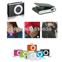 32gb micro sd - 8 colors Mini Clip Mp3 player with earphones usb cables retail box support Micro SD TF card GB Sport Mp3 DHL ship