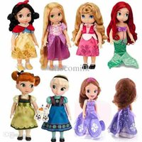 aurora plush - Princess Animators Sharon Doll Princess Sofia Snow White Ariel Rapunzel Merida Cinderella Aurora Belle Princess dolls for Girl