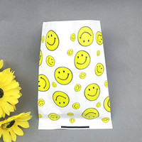 Wholesale H18cm smiling face pattern pie package bags egg tart bags french fries bags oil paper food bag