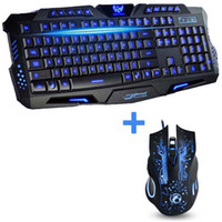 best wireless gaming keyboard - Best Color Backlit Wired Laptop PC Computer Pro Gaming Keyboard Mouse Combo Professional Buttons DPI X9 Mouse Keyboard