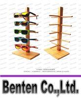 Wholesale 2016 New Wood Glasses Racks For Glasses Fashion Sunglasses Display Stand Bamboo Holder Removable Shelf LLFA5089F