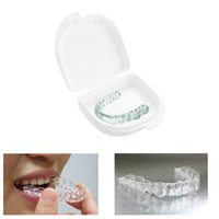 false teeth - New Arrival Convenient Denture Brace Box Portable White Air Hole False Tooth Box W873