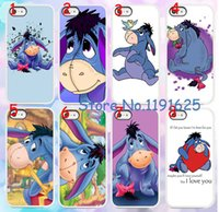 big lots iphone cases - 8pcs Big Ass Long Ear eeyore Cute Donkey hard White case cover for iphone s g S c free shiping