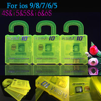 Wholesale NEWEST R SIM R SIM RSIM SIM10 For iphone S plus S C G S IOS9 IOS GSM CDMA WCDMA G G G unlock sim R