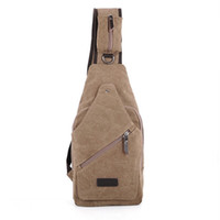 Wholesale 100 b Cotton Canvas Motorcycle Bike Travel Hiking Messenger Shoulder Sling Chest Bag Men s Backpack Outdoor Sport Backpack