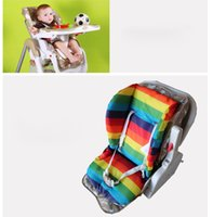 Wholesale Thicken The Rainbow Cart Pads Baby Thicken Cotton Waterproof Rainbow Cotton Pad Seat Cushion Baby Dinning Chair Baby Strollers Cushion