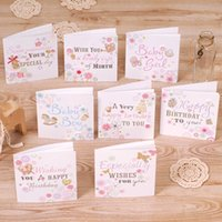 baby boy personalized gifts - 8 sets of personalized square handmade greeting card gift wish card birthday card cute new baby card for girl boy designs