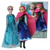 Wholesale Frozen Figure Play Princess Anna Elsa with hat Classic Toy Frozen Toys Dolls With Retail Box DHL