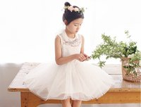 berry necklace - Hot summer New Children princess dress Amber berry girls lace hollow tulle tutu dress kids Rhinestone necklace vest party dress A6326