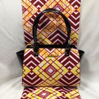 african tote bags - 6Yards Dutch Wax Fabric Hand Bag Clearance Fabric promotion Premier African Exclusive Super Wax Fabric Ankara Church PU yy6