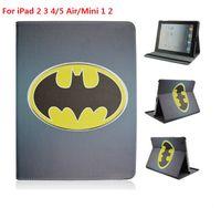 batman lights - Cartoon Batman PU Leather Universal Shockproof Anti Dust Tablet Protective Cover Case for iPad Air Mini