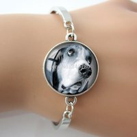 art easter basket - Dog doggie pendant Dog in basket jewelry rescue dogs Glass dome art pendan bangle bracelet