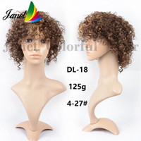 Wholesale Afro Kinky curly Human Hair wig inch Short human hair old fashion g None lace wig Ombre Hair density