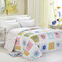Wholesale cotton spring summer autumn quilt easy for travel king queen full twin size SLQ002